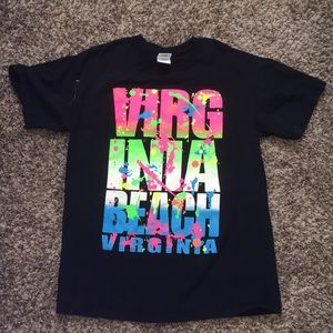 Gildan Virginia Beach Virginia Color Splat T-Shirt